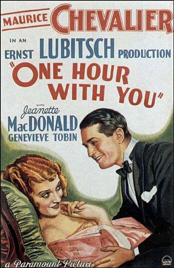 "The poster for ""One Hour With You"""