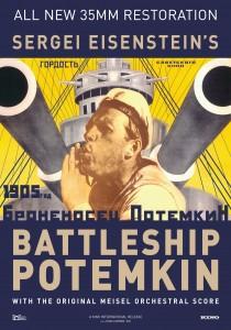 "The poster for ""Battleship Potemkin.""  (Kino Classics DVD)"