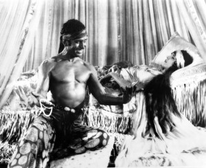 """Douglas Fairbanks with the Princess in """"Thief of Bagdad."""""""