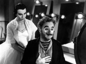 """Claire Bloom and Charlie Chaplin play broken entertainers in """"Limelight."""""""