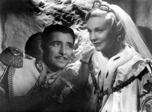 "Ronald Colman and Madeline Carroll in ""The Prisoner of Zenda."""