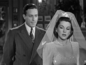 """Lawrence Tierney and Claire Trevor in """"Born to Kill."""""""