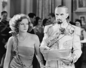 "Greta Garbo as Tania and Gutav von Seyffertitz as Boris are master spies in ""The Mysterious Lady."""