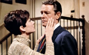 "Audrey Hepburn as Suzy and Richard Crenna as Mike in ""Wait Until Dark."""