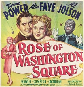 "The poster for ""Rose of Washington Square."""