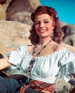 "Rita Hayworth in ""The Loves of Carmen."""