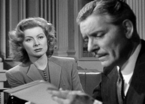 "Ronald Colman forgets Greer Garson in ""Random Harvest."""