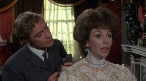 "Michael Caine and Nanette Newman in ""The Wrong Box."""