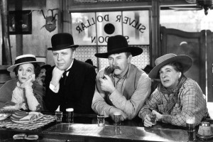 "From left, Zazu Pitts, Charles Laughton, Charles Ruggles and Maude Eburne in ""Ruggles of Red Gap."""
