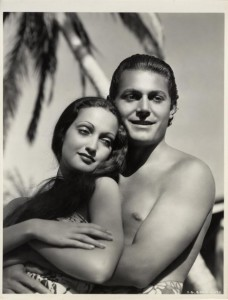 """Dorothy Lamour and John Hall in """"The Hurricane."""""""