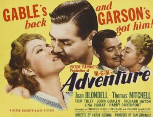 """The movie poster for """"Adventure."""""""