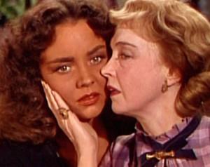"Jennifer Jones (left) and LIllian Gish in ""Duel in the Sun."""