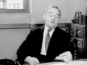 "Barry Fitzgerald in ""The Naked City."""