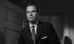 """Ralph Meeker as Mike Hammer in """"Kiss Me Deadly."""""""