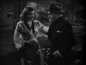 "Joan Bennett and Edward G. Robinson in ""Scarlet Street."""
