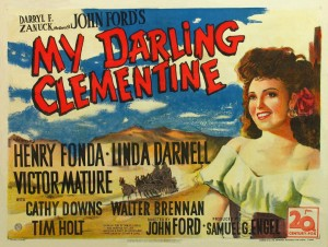 """The poster for """"My Darling Clementine,"""" showing Linda Darnell, who plays Chihuahua."""