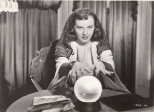 "Paulette Goddard in ""The Crystal Ball."""