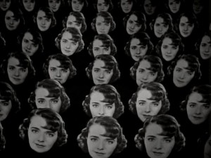 """One of the spectacular Busby Berkeley effects in """"Dames."""""""