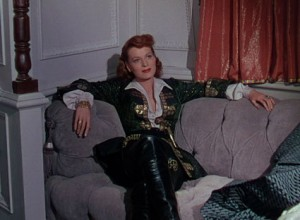 """Maureen O'Hara plays Spitfire in """"Against All Flags."""""""