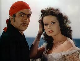 "Tyrone Power and Maureen O'Hara star in ""The Black Swan."""