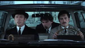 "(From left) Yves Montand, Alain Delon and Gian Maria Volonte play partners in crime in ""Le Cercle Rouge."""