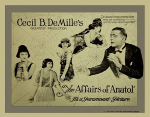 "The movie poster for ""The Affairs of Anatol."""