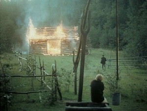"""The family barn burns down in """"The Mirror."""""""