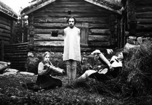 "From left, Greta Almroth, Einar Rod and Hildur Carlberg in ""The Parson's Widow."""