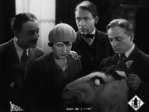 """From left, Hubert von Meyerinck, Lissy Arna, Mathias Wieman and Paul Heidemann in """"Under the Lantern."""""""