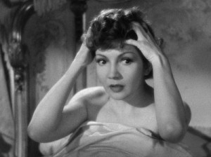 """Claudette Colbert wakes up in a Cinderella story in """"Midnight."""""""