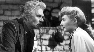 "Walter Huston and Barbara Stanwyck star in ""The Furies."""