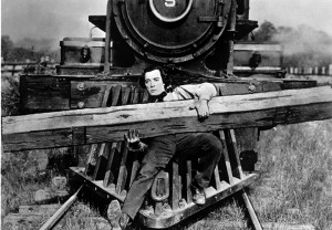 "Buster Keaton in ""The General."""
