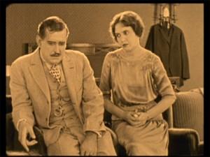 "Clarence Burton and Lois Wilson in ""MIss Lulu Bett."""