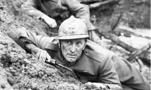 """Kirk Douglas in """"Paths of Glory."""""""