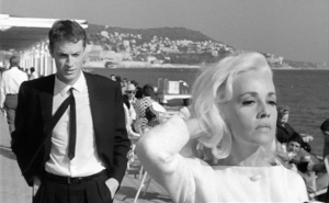"Claude Mann and Jeanne Moreau star in ""Bay of Angels."""