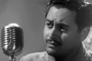 "Guru Dutt plays the poet Vijay in ""Pyaasa."""